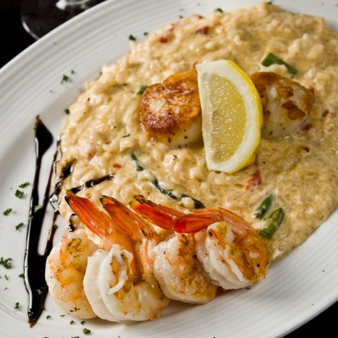 Wrought Iron Grill Owosso. Michigan fine dining restaurant Seafood Risotto