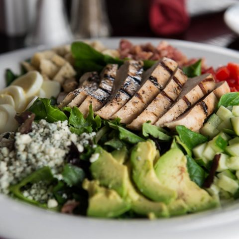 Wrought Iron Grill Owosso. Michigan fine dining restaurant Cobb Salad